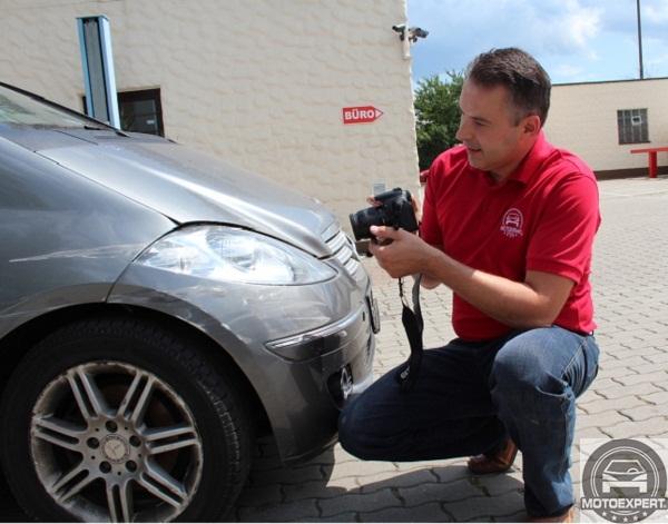 Kostenvoranschlag nach Autounfall